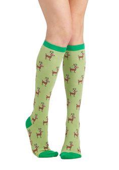 Reindeer Games Socks, #ModCloth