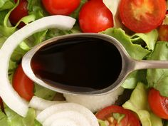 Balsamic Reduction by momtastic: Simply reducing balsamic vinegar gives it a depth and richness which can be used as an extraordinary sauce on roasts and vegetables, or in a thinned form as a glaze, or as a salad dressing. Add a bit of honey or bay leaf for a variation.  Amazing as a dip for strawberries! Stores well refrigerated. #Balsamic_Vinegar_Reduction #momtastic
