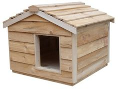 ... Basic Outdoor Cat Shelter, Cedar Wood Cat House, Insulated, Earth