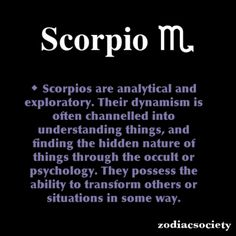 Scorpio Zodiac Facts