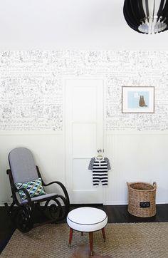 Boy's modern vintage nursery