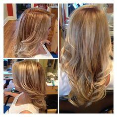 Dark Blonde with balayage highlights