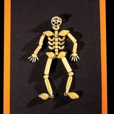 skeletonis out of pasta kids crafts games halloween
