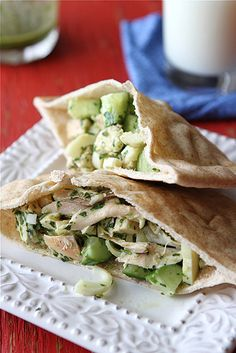Pita Sandwich with Chicken, Hearts of Palm & Chimichurri Dressing via @Cookin' Canuck Dara Michalski