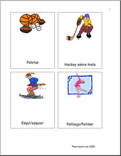 Spanish Sports flashcards