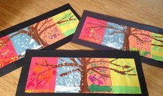 Four season tree for first and second grade to do in art class