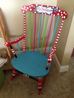 Because every teacher should have a rocking chair :) so glad I painted ...