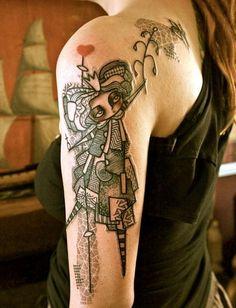 amazing tattoos sleeve for girl ideas