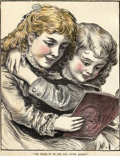 Oh, read it to me all over again! #Victorian #children #illustration #1800s