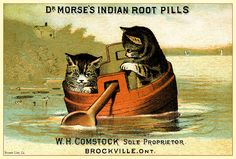Dr. Morse's Indian Root Pills - Old advertising card (late 19th century)