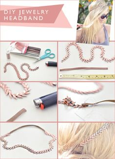 Trendy and Eco-Friendly: DIY Recycled Jewelry Projects , DIY Jewelry Headband