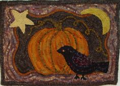 craft, hook rug, patterns, pumpkin rug, pumpkins, linens, crows, hook pattern, rug hooking