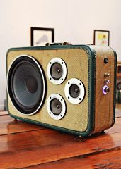 Thumpers - made from vintage suitcases.