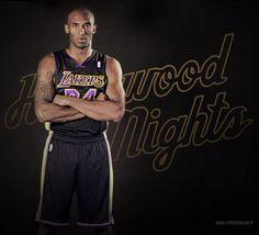 Kobe Bryant 2013 Los Angeles Lakers Hollywood Nights Black Alternate Adidas Uniform