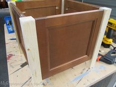easy planter from cabinet doors