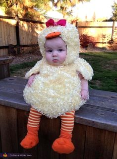 Baby Duck Homemade Costume. How cute is this baby?!?