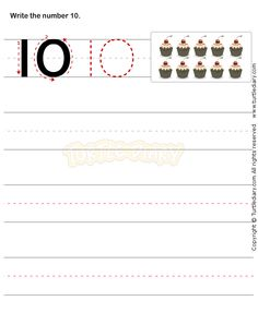 Number Writing Worksheet 10 - math Worksheets - preschool Worksheets
