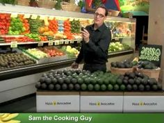 How to Pick/Choose An Avocado - Tips for Buying Avocados with Sam the Cooking Guy on YouTube