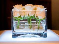 roses centre piece - simple, lovely