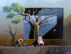 return... painting by Thor Lindeneg