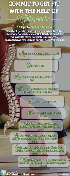 Tips to minimize back pain!