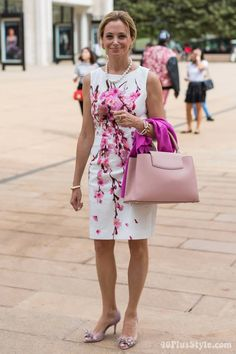 40+Style Inspiration: the printed shift dress - would love to know where this dress is from ...