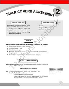 """Subject-Verb Agreement from EduCafe on TeachersNotebook.com -  (10 pages)  - This Mini-Chapter comes as a handy for English Teachers to teach about """"Subject-Verb Agreement"""" in Detail."""
