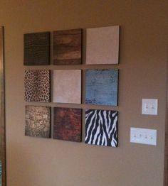 Make beautiful wall decor using foam insulation and scrapbook paper! apartment decor