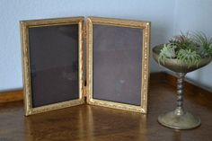 Antique Picture Frame / Double Hinged 5x7 In by MyVintagePastLife, $44.99