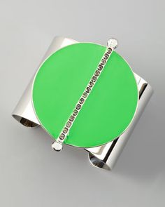 Neon Semicircle Cuff, Lime by Paige Novick at Neiman Marcus. #NMFallTrends