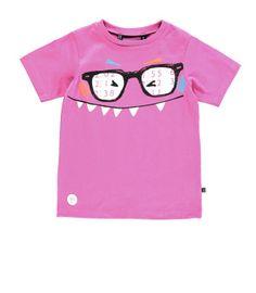 Souris Mini - T-shirt rose à manches courtes pour garçon. Collection Ti-monstres en cavale Été 2014.
