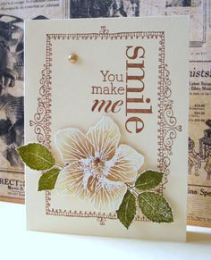 Card from Jacqueline's Craft Nest. My favorite frame/ I could use my frame stamp!