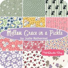 Mellow Grace In A Pickle Fat Quarter Bundle Judie Rothermel for Marcus Brothers Fabrics brother fabric, fabric favourit, fav fabric, fabric stash, fabric collect, 1930s fabric