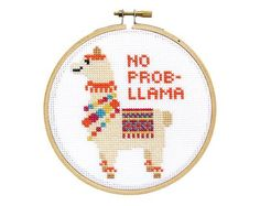 No Prob-llama DIY Cross Stitch Kit