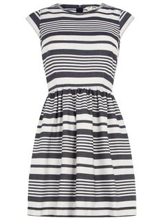 Dorothy Perkins  Blue and white stripe dress
