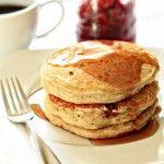 Orange-Cranberry Fluffy Pancakes