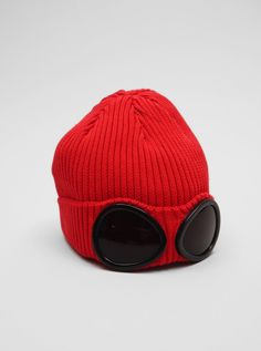 Lol - I want one just cause it looks so friggin weird! CP Company Goggle Cap Red
