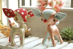 DIY stuffed animal deer - thinking f doing something like this today?