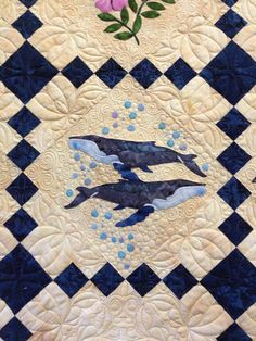 quilt sampler, art quilt, alaskan quilt, whale, quilt idea