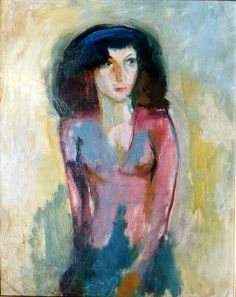 Portrait of Woman in a Pink Blouse - Ismail al Sheikhly