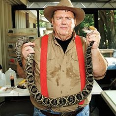 Ken Darnell, Snake Wrangler ~ Rattlesnake venom is used to make lifesaving medicines. But you have to be brave – and a little crazy – to take it from the snake. Ken Darnell is a bit of both.