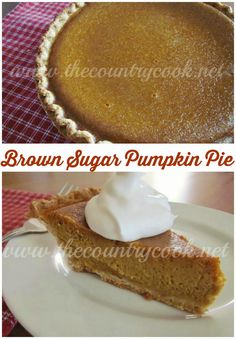 Brown Sugar Pumpkin Pie | The Country Cook