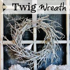 twig wreath, wreath craft