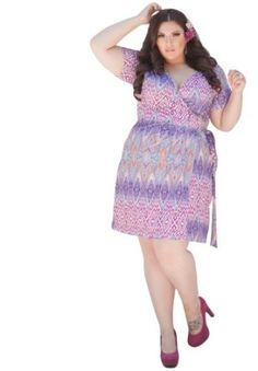 Sealed With A Kiss Designs Plus Size Evangaline Wrap Dress,