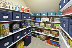 Kids Playroom Ideas using a closet from organized living