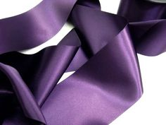 Plum satin ribbon