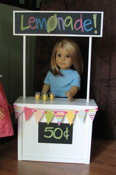 """Lemonade Stand for American Girl / 18"""" Doll."""