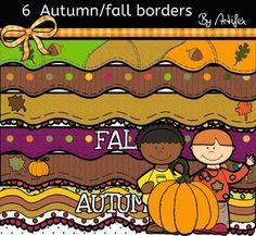 FREE - 6 Autumn/ Fall borders