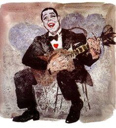 Carlos Gardel por Sabat. El 24 de junio se cumple 77 años de su trágica muerte.