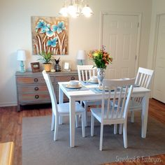gorgeous dining room done for Habitat for Humanity by Sawdust and Embryos!